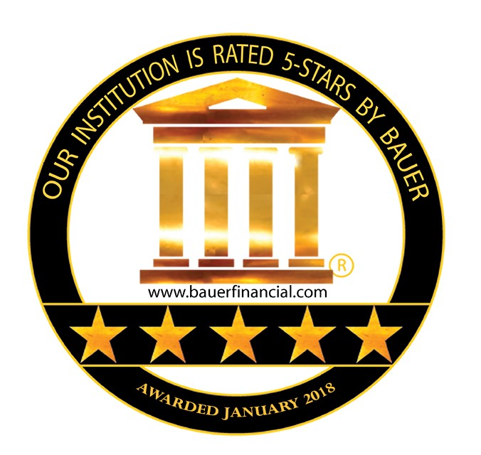 Our institution is rated 5-stars by Bauer. Awarded January 2018.