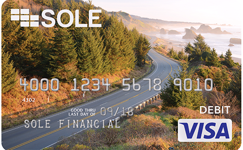 SOLE debit card.